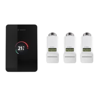 Kit termostato BOSCH EasyControl CT 200 con 3 testine nero