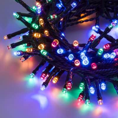 Catena luminosa 300 lampadine LED multicolore 200 cm