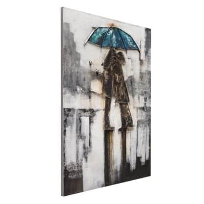 Quadro dipinto a mano Ombrello 120x90 cm