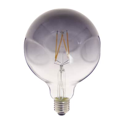 Lampadina decorativa LED filamento E27, Globo,  diffusore Fumé, col.luce Bianco, Luce calda, 60W=600LM (equiv 60 W), 320° , XANLITE