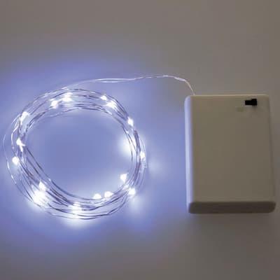 Catena luminosa 120 lampadine LED bianco freddo 1190 cm