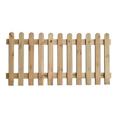 Recinzione dritta Eco in legno L 180 x H 100 x P 3 cm