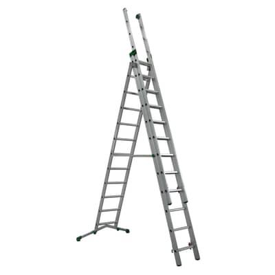 Scala a sfilo FACAL Super Prima 3 rampe in alluminio 3x12 gradini per lavori fino a 5.6 m