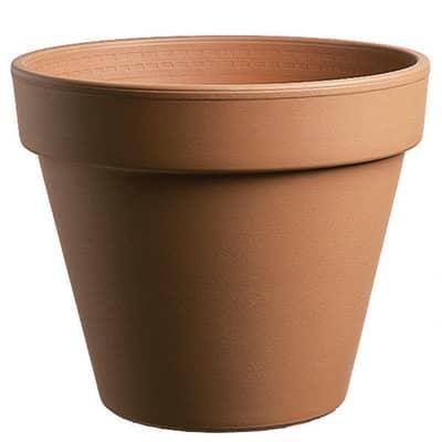 Vaso Comune in terracotta colore cotto H 15.3 cm, Ø 17 cm