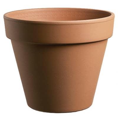 Vaso Comune in terracotta colore cotto H 19 cm, Ø 21 cm