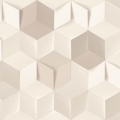 Carta da parati Cubi beige