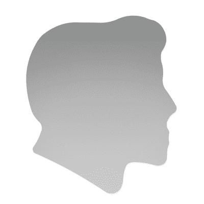 Specchio non luminoso bagno quadrata Raimondo L 60 x H 60 cm