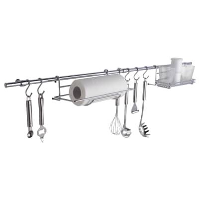 Supporti mensole da appoggio argento P 11 cm x L 295 x H 610 mm