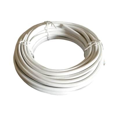 Cavo elettrico h03vvh2-f LEXMAN 2 fili Matassa 5 m bianco
