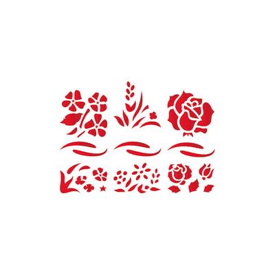 Stencil tema frutti e fiori LES DECORATIVES 20.0 x 0.1 cm