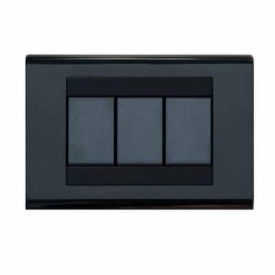 Placca FEB 3 moduli nero