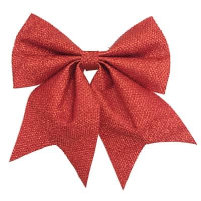 Fiocco in tessuto rosso brillante , L 20 cm x P 1 cm