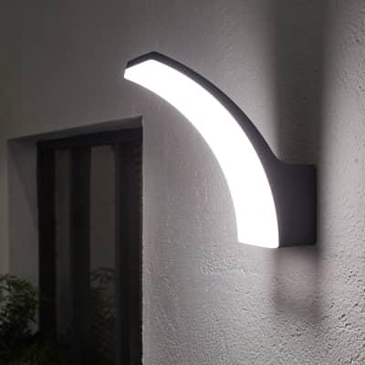 Applique Lakko LED integrato in alluminio, antracite, 11.0W 1200LM IP44 INSPIRE