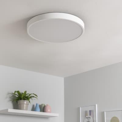 Plafoniera design Caty LED integrato bianco, in ferro,  D. 50 cm 50x50 cm, INSPIRE