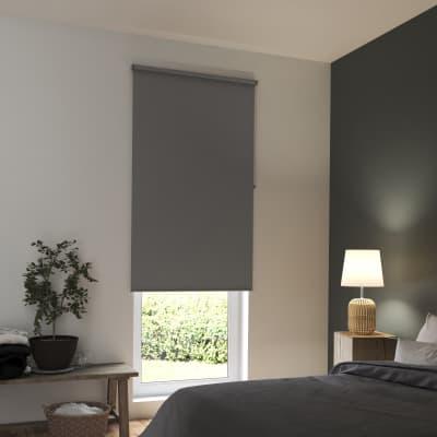 Tenda a rullo INSPIRE Tokyo oscurante grigio scuro 60x250 cm