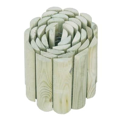 Bordura in rotolo in legno L 180 x H 20 cm Sp 1.4 cm