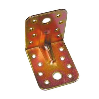 Piastra angolare standers in acciaio zincato L 65 x Sp 2.5 x H 55 mm
