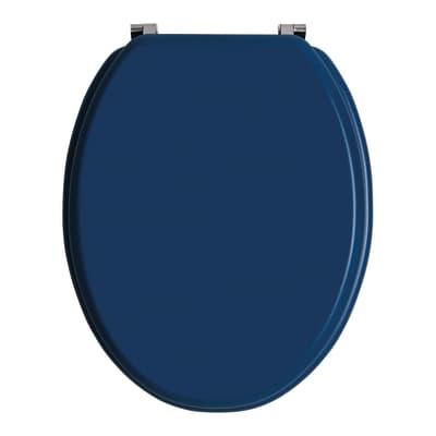 Copriwater ovale Universale Woody Blu Opaco WIRQUIN mdf blu