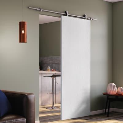 Porta scorrevole con binario esterno renoir in legno for Porta asciugamani leroy merlin