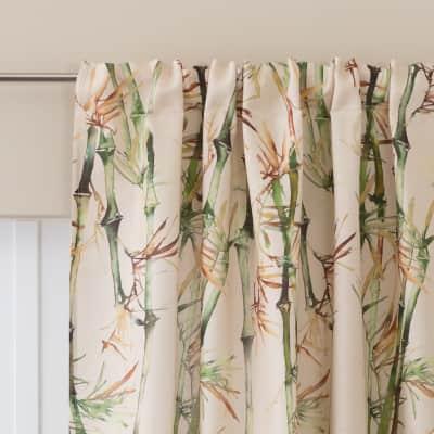 Tenda Bamboo crema con decoro passanti nascosti 140 x 280 cm