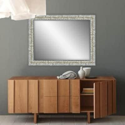 Specchio a parete rettangolare Camelia argento 50x70 cm
