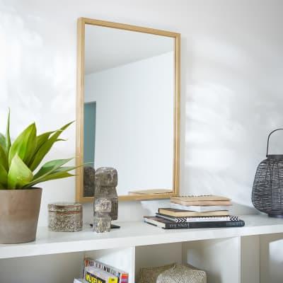 Specchio a parete rettangolare Milo rovere 40x60 cm INSPIRE