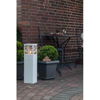 Lampioncino Whitney H59cm in metallo, bianco, E27 1xMAX60W IP44 INSPIRE