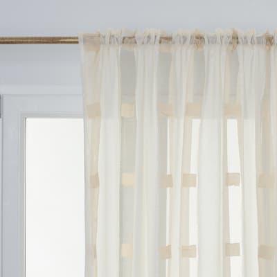 Tenda Eleonora beige fettuccia 210 x 290 cm