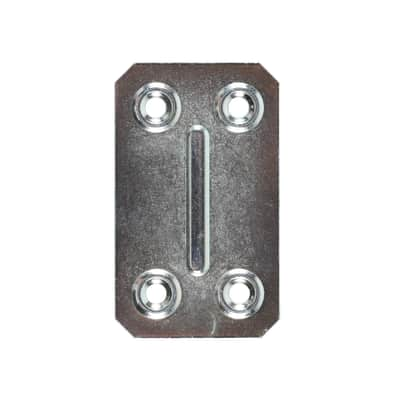 Piastrina in acciaio zincato 67 x 40 mm