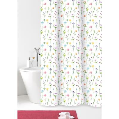 Tenda doccia Fiori in poliestere rosa L 180 x H 200 cm