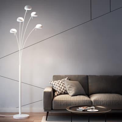 Lampada da terra in metallo, H224cm, E14 5xINSPIRE