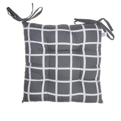 Cuscino per sedia Double antracite 40x