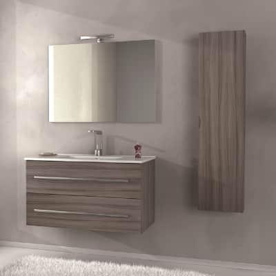 Set mobile da bagno con lavabo Zara larice L 100 cm