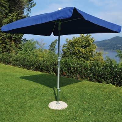 Ombrellone NATERIAL Ita 003 L 2.15 x P 2.15 m color blu
