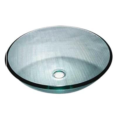 Lavabo da appoggio Rotondo Alix in vetro Ø 39.5 x H 14 cm trasparente