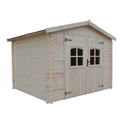 Casetta da giardino in legno Elista,  superficie interna 6.66 m² e spessore parete 19 mm