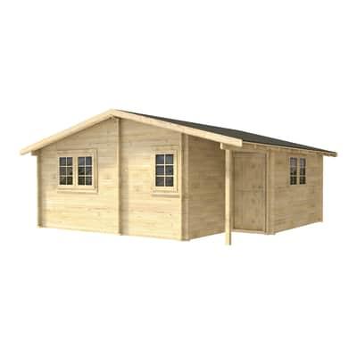 Casetta da giardino in legno Genny,  superficie interna 32.6 m² e spessore parete 45 mm