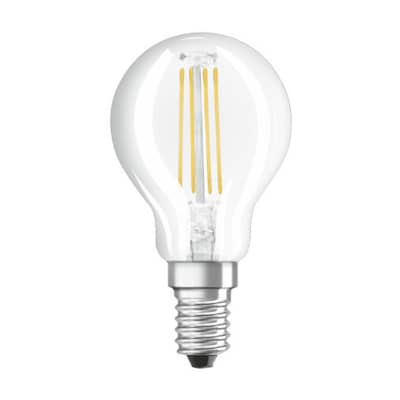 Lampadina LED, E14, Sferico, Trasparente, CCT, 4W=470LM (equiv 40 W), 300° , OSRAM