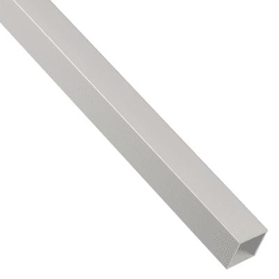 Profilo tubo quadrato STANDERS in alluminio 2.6 m x 2 cm