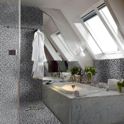 Mosaico Polar Grey15 H 31.8 x L 31.8 cm grigio/argento