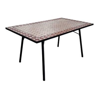 Tavolo da giardino rettangolare Mosaico con piano in ...