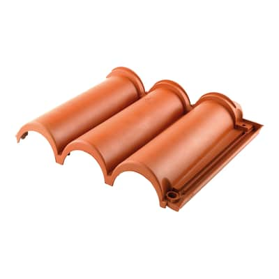 Tegola Senese in polipropilene 36 x 45 cm, Sp 5 mm terracotta 10 pezzi