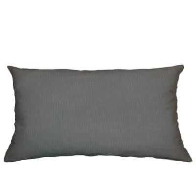 Cuscino Loneta grigio scuro 30x60 cm