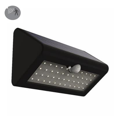 Applique a soffitto Solare 500lm con sensore di movimento LED integrato nero, 5.5W 500LM IP44 YANTEC