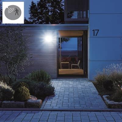 Proiettore LED integrato con sensore di movimento Home in plastica, argento, 15W 1184LM IP44 STEINEL