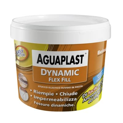 Stucco in pasta AGUAPLAST Dynamic Flex Fill 1 kg grigio