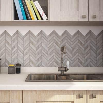 Mosaico H 30.35 x L 22.6 cm grigio