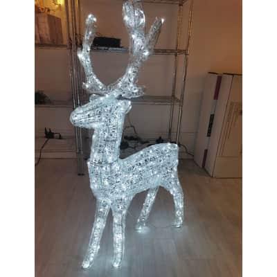 Renna 400 lampadine bianco caldo H 120 cm