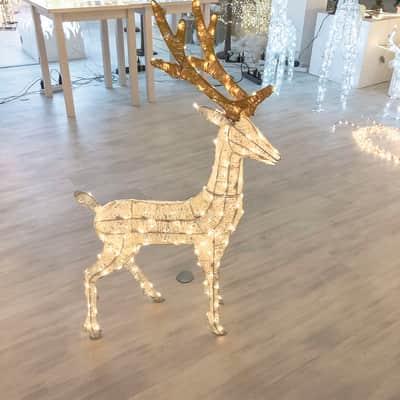 Renna 200 lampadine bianco caldo H 105 cm