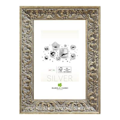 Cornice Amber argento per foto da 50x70 cm